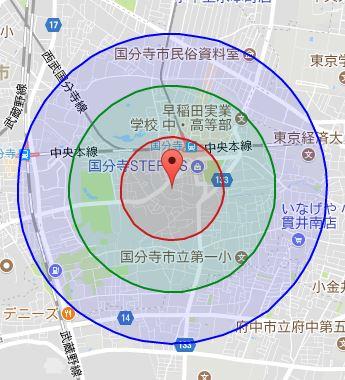 国分寺 レンタルスタジオ 周辺